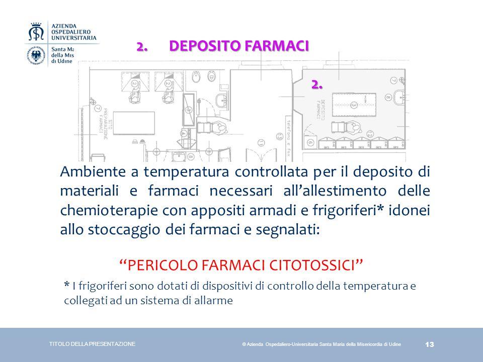 PERICOLO FARMACI CITOTOSSICI