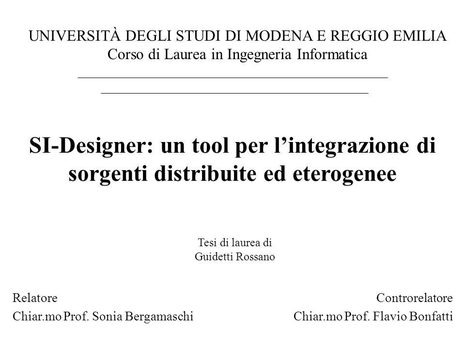 Controrelatore Chiar.mo Prof. Flavio Bonfatti. UNIVERSITÀ DEGLI STUDI DI MODENA E REGGIO EMILIA. Corso di Laurea in Ingegneria Informatica.