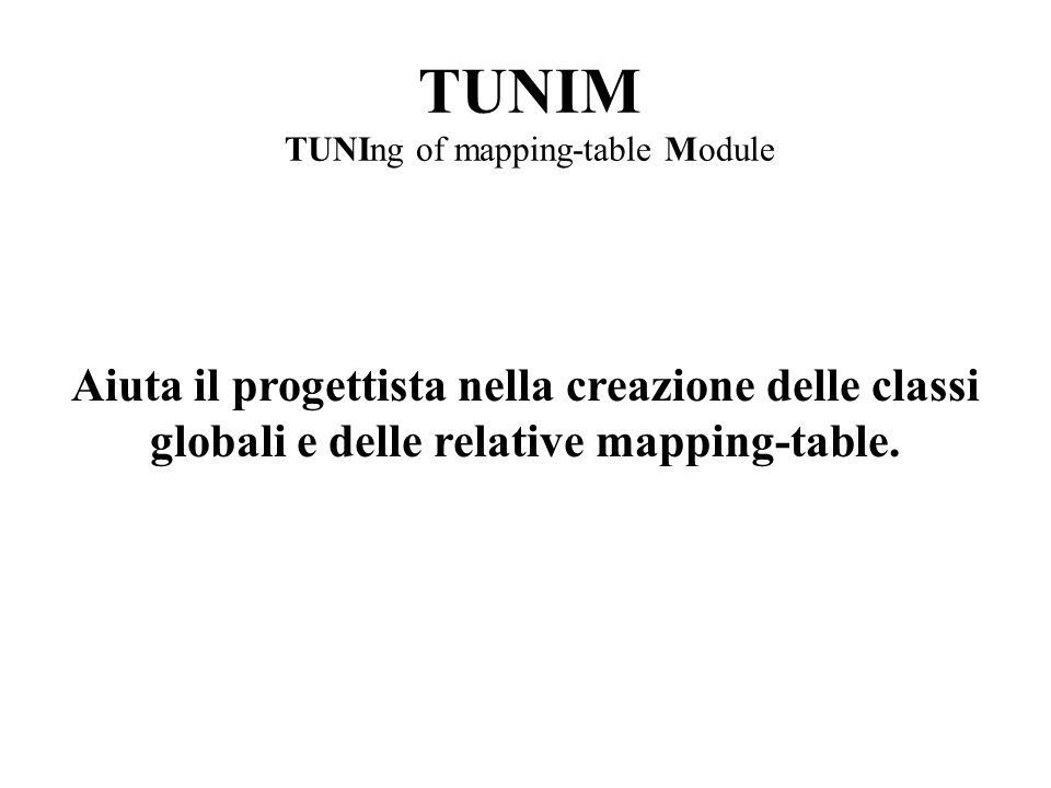TUNIM TUNIng of mapping-table Module