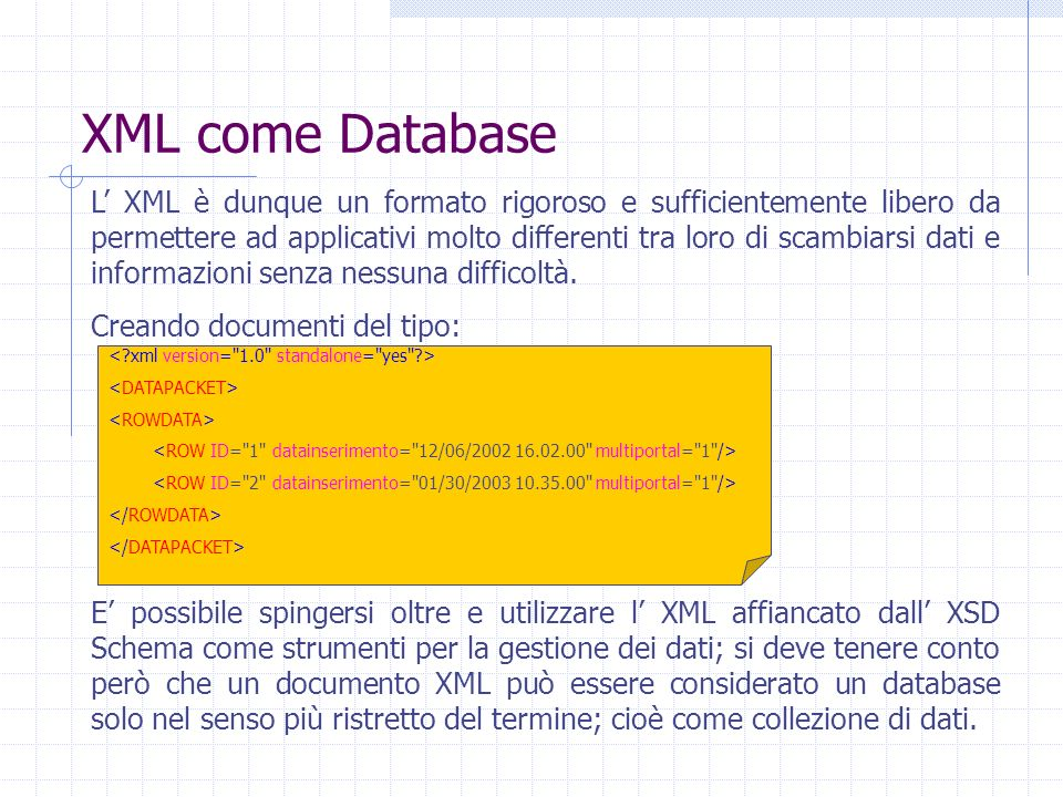 XML come Database
