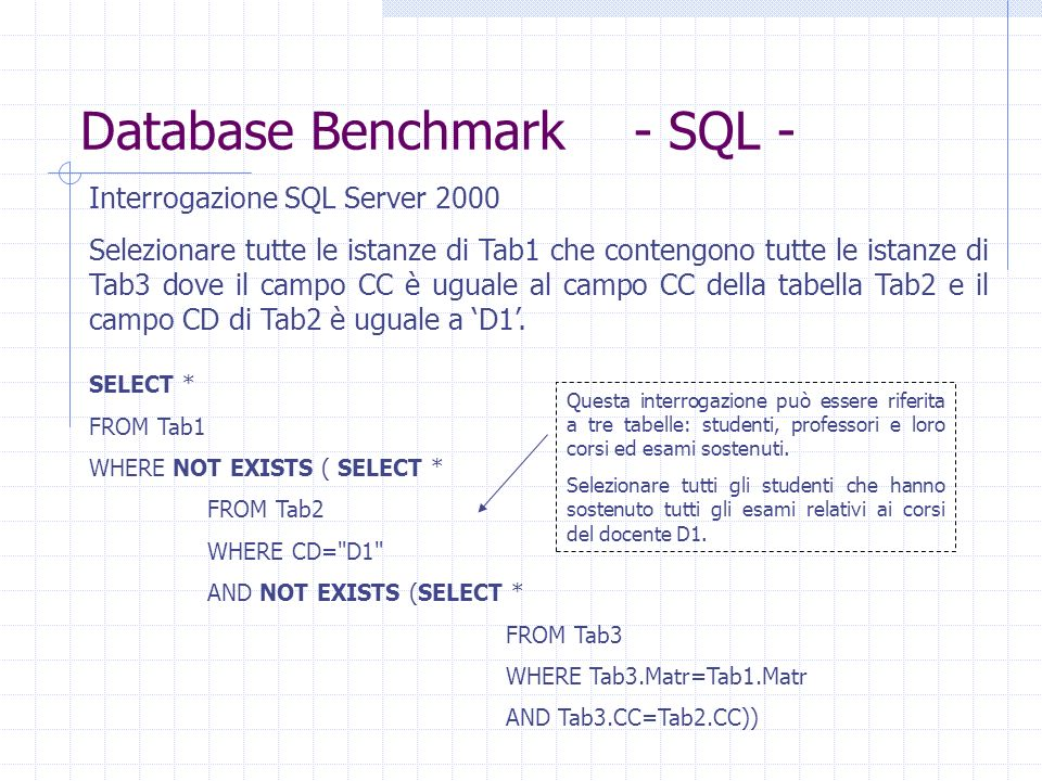 Database Benchmark - SQL -