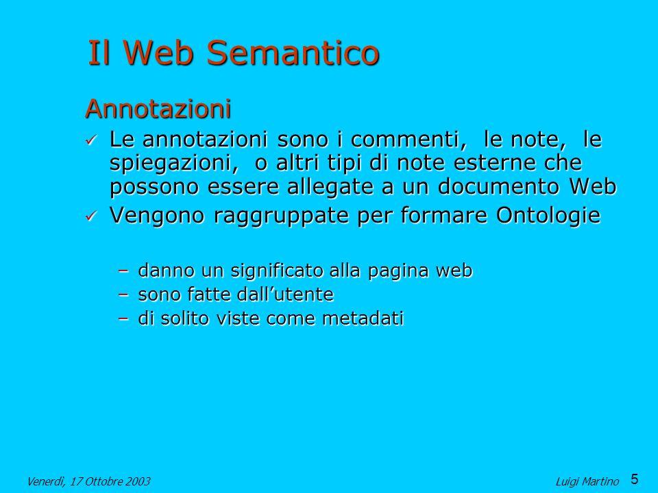 Il Web Semantico Annotazioni