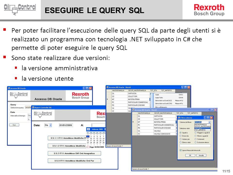 ESEGUIRE LE QUERY SQL