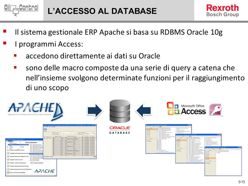 Il sistema gestionale ERP Apache si basa su RDBMS Oracle 10g