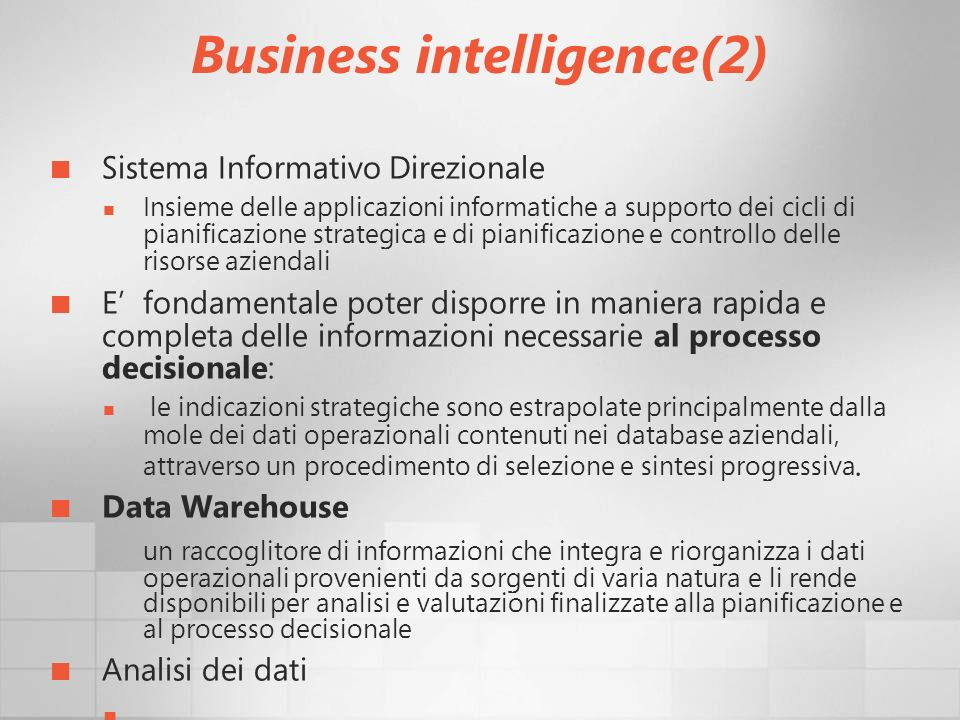 Business intelligence(2)