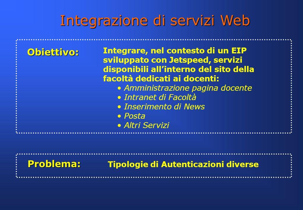 Integrazione di servizi Web