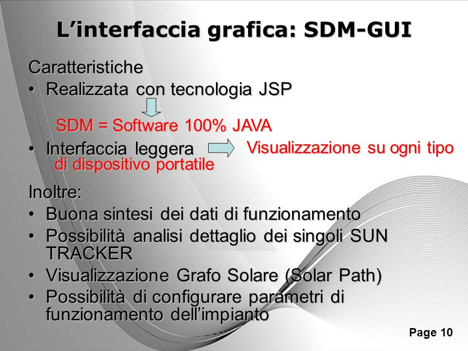 L'interfaccia grafica: SDM-GUI