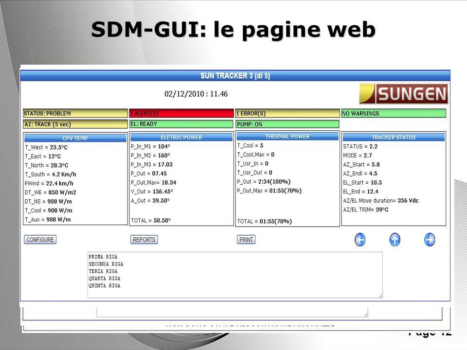 SDM-GUI: le pagine web