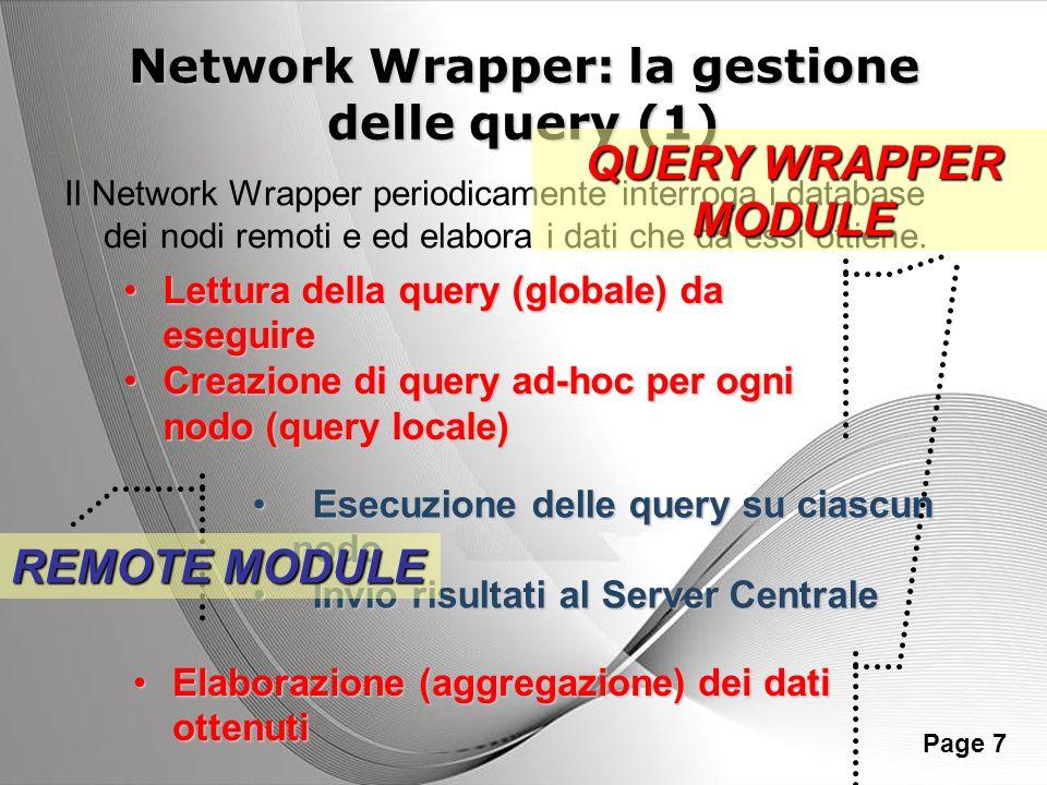 Network Wrapper: la gestione delle query (1)