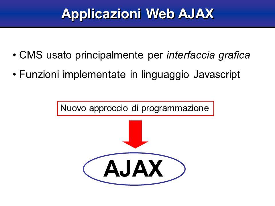 AJAX Applicazioni Web AJAX