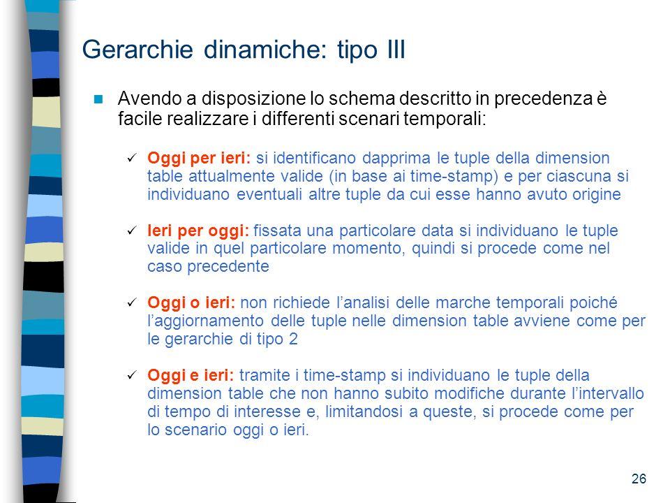 Gerarchie dinamiche: tipo III