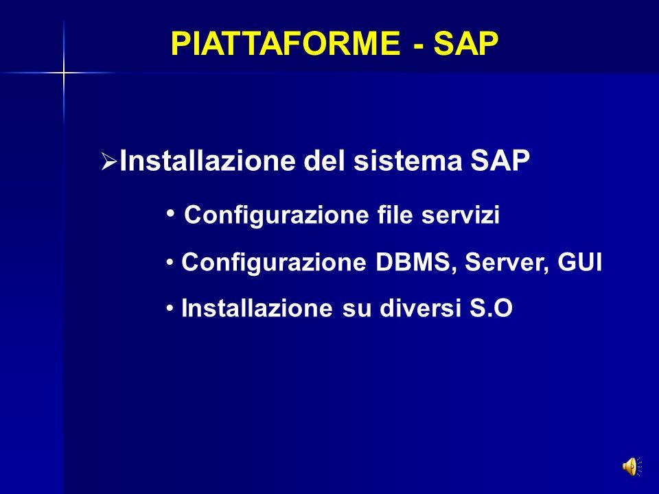 PIATTAFORME - SAP Configurazione file servizi