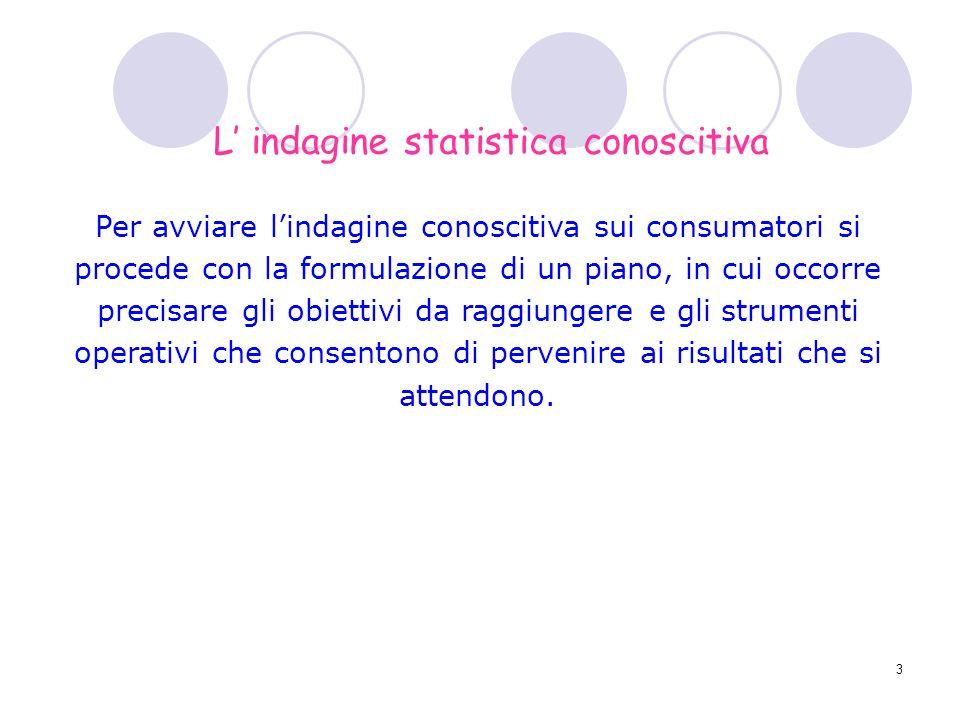 L' indagine statistica conoscitiva