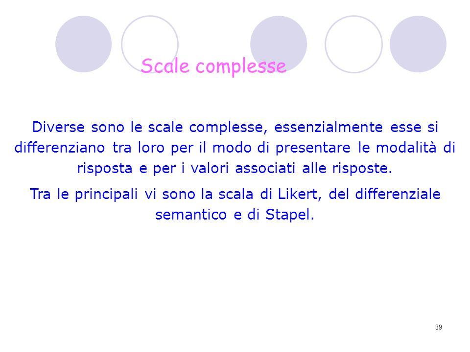 Scale complesse