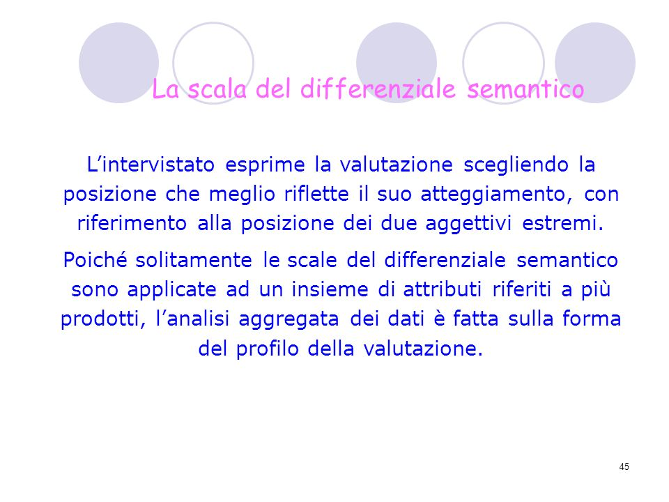 La scala del differenziale semantico