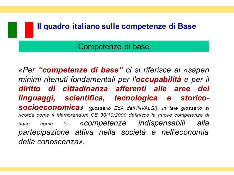 Il quadro italiano sulle competenze di Base