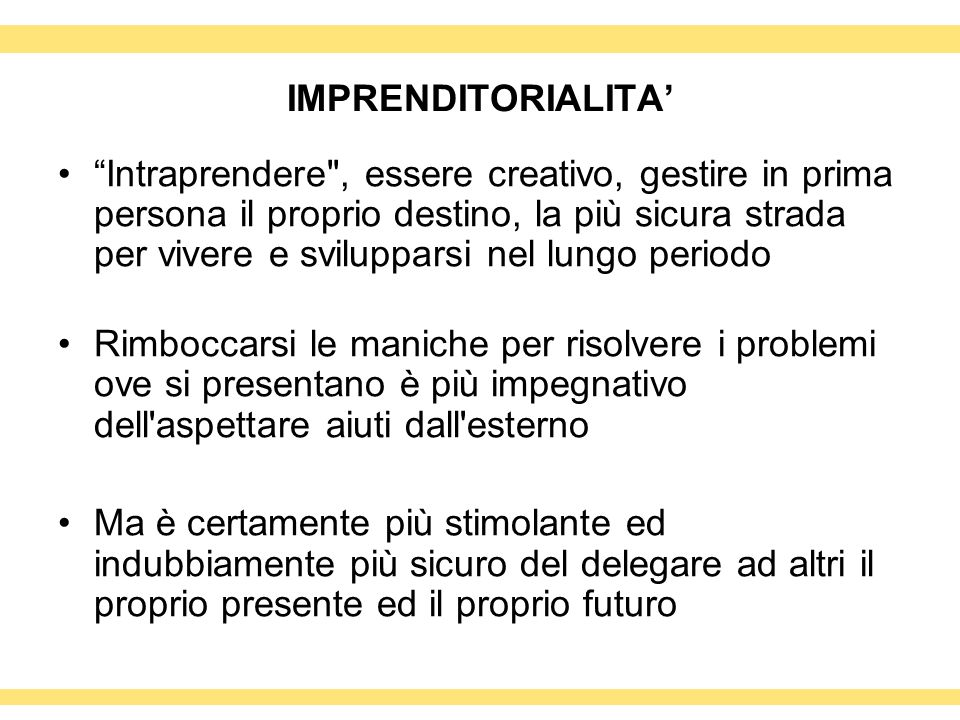 IMPRENDITORIALITA'