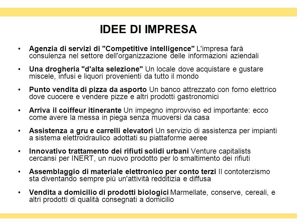 IDEE DI IMPRESA