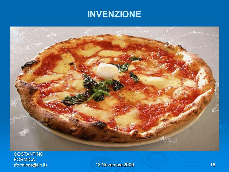 INVENZIONE COSTANTINO FORMICA (formicas@tin.it) 13 Novembre 2009