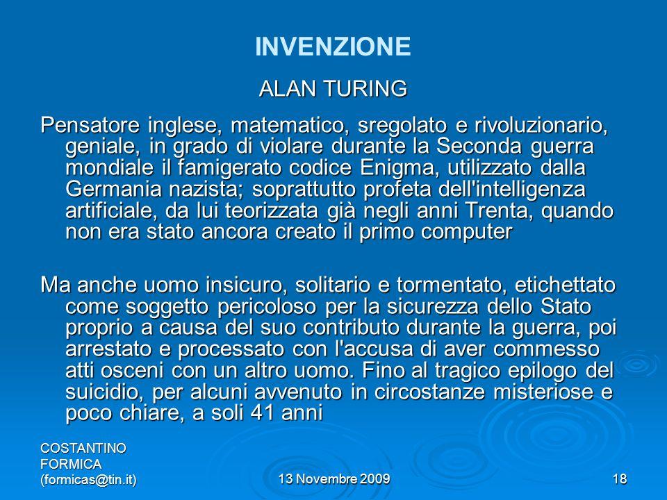 INVENZIONE ALAN TURING