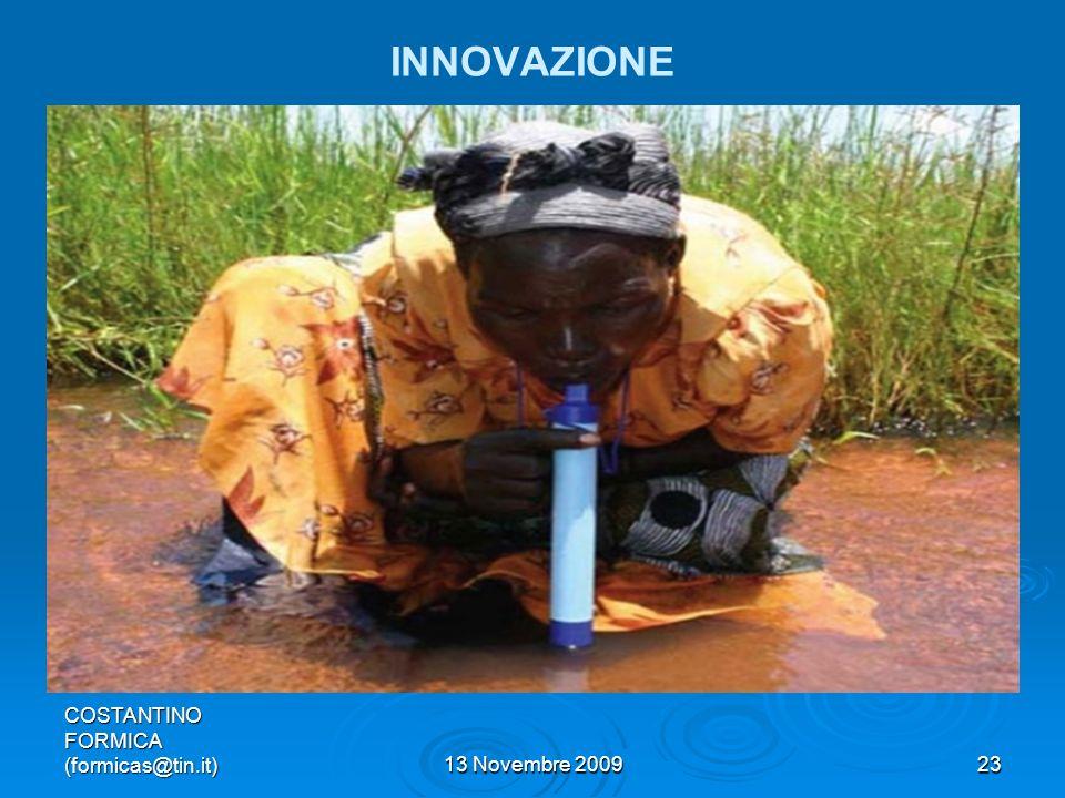 INNOVAZIONE COSTANTINO FORMICA (formicas@tin.it) 13 Novembre 2009