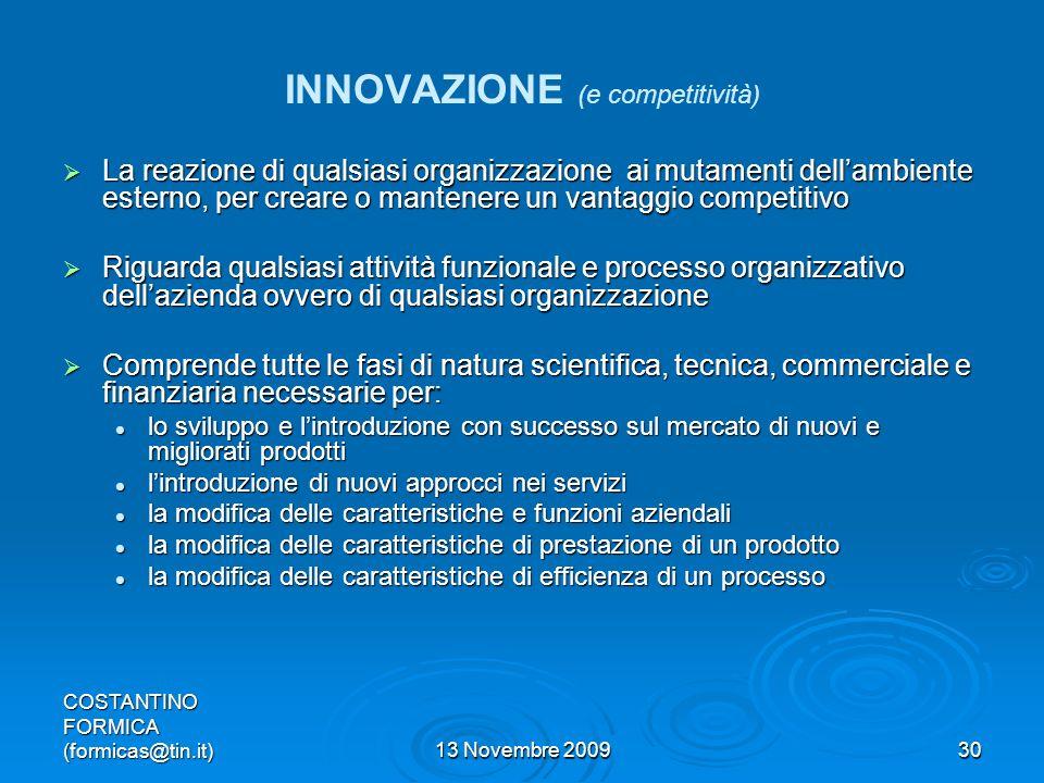 INNOVAZIONE (e competitività)