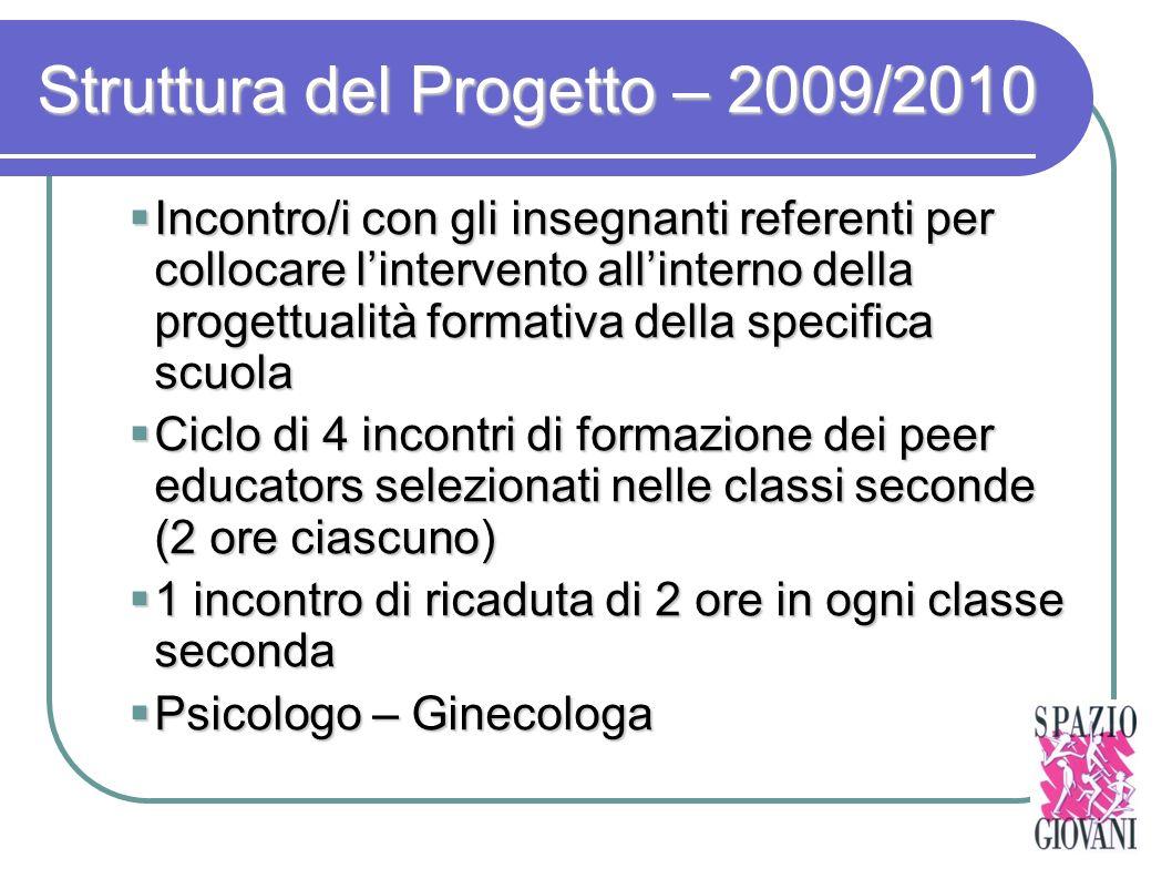 Struttura del Progetto – 2009/2010