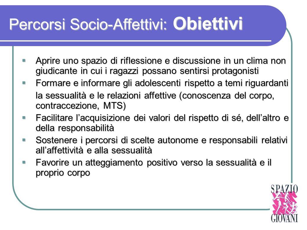 Percorsi Socio-Affettivi: Obiettivi