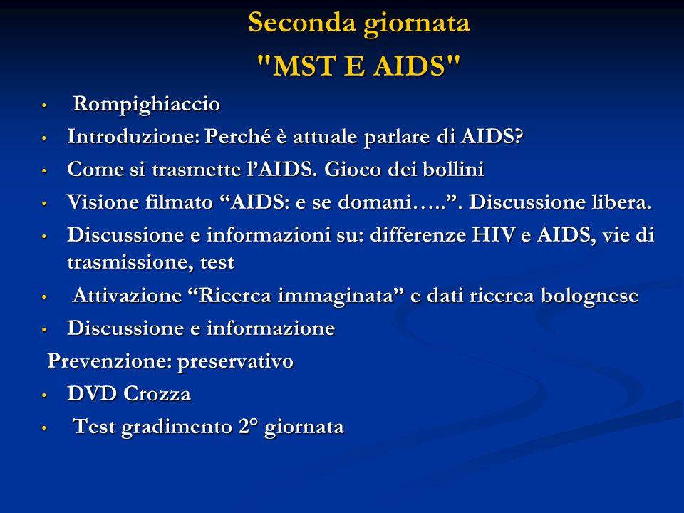 Seconda giornata MST E AIDS Rompighiaccio