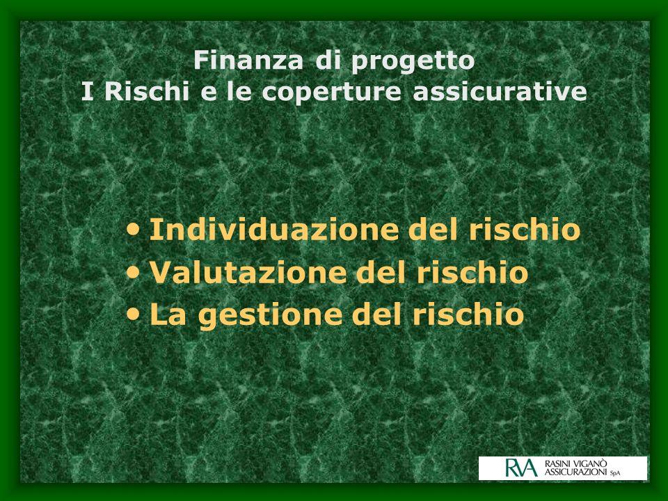 Finanza di progetto I Rischi e le coperture assicurative