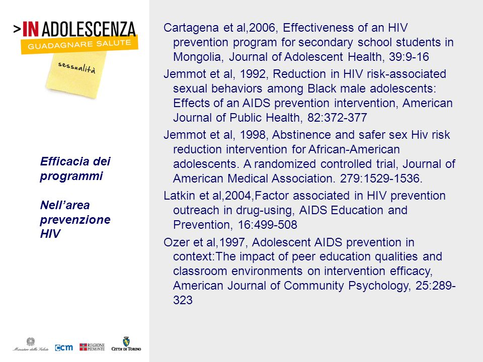 Cartagena et al,2006, Effectiveness of an HIV prevention program for secondary school students in Mongolia, Journal of Adolescent Health, 39:9-16