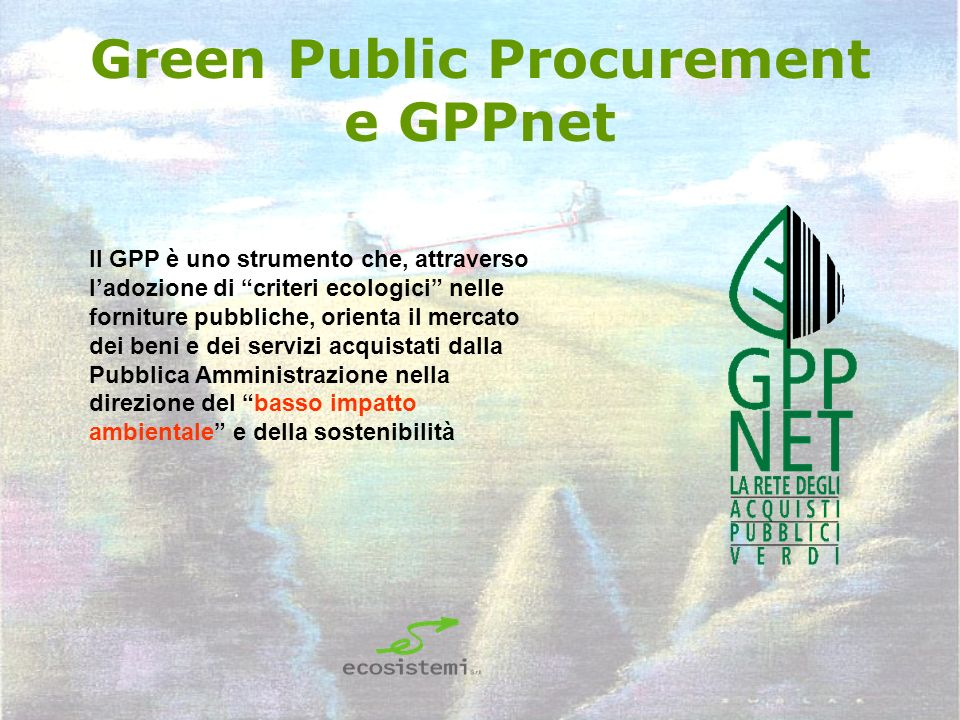 Green Public Procurement e GPPnet