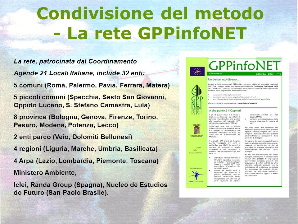 Condivisione del metodo - La rete GPPinfoNET