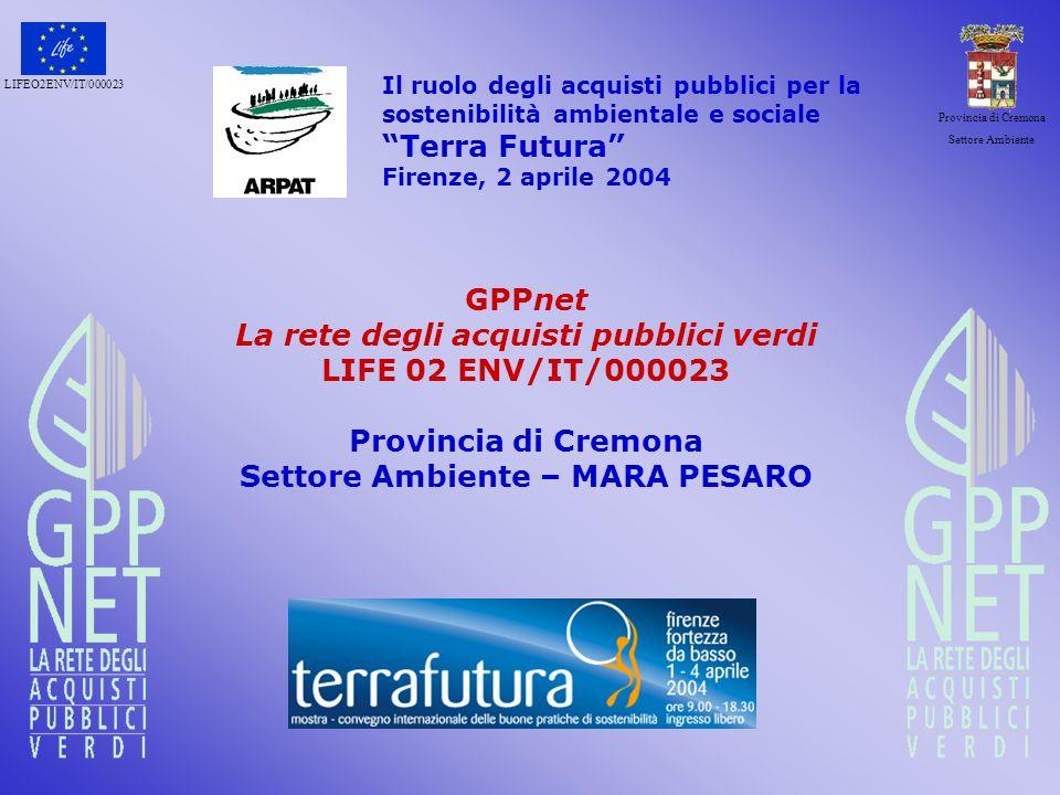 La rete degli acquisti pubblici verdi Settore Ambiente – MARA PESARO