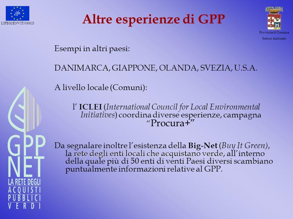 Altre esperienze di GPP