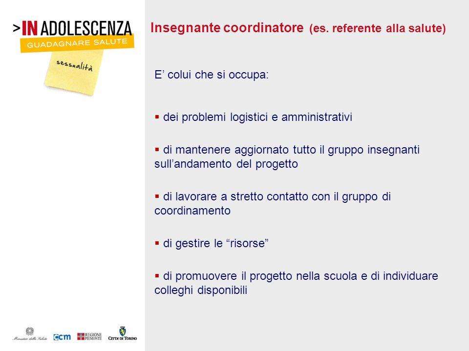 Insegnante coordinatore (es. referente alla salute)