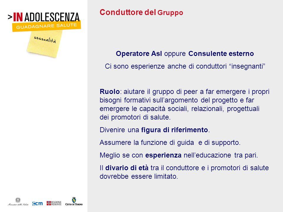 Conduttore del Gruppo Operatore Asl oppure Consulente esterno