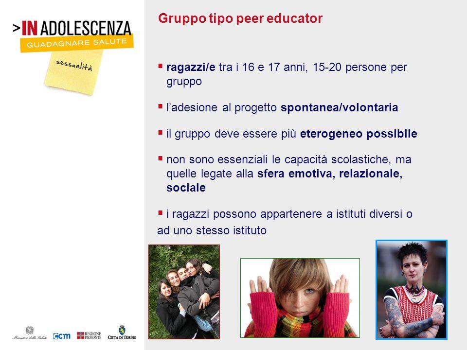 Gruppo tipo peer educator