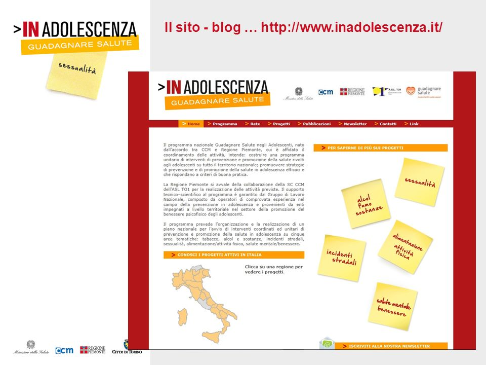 Il sito - blog … http://www.inadolescenza.it/