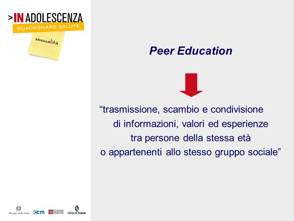 Peer Education trasmissione, scambio e condivisione