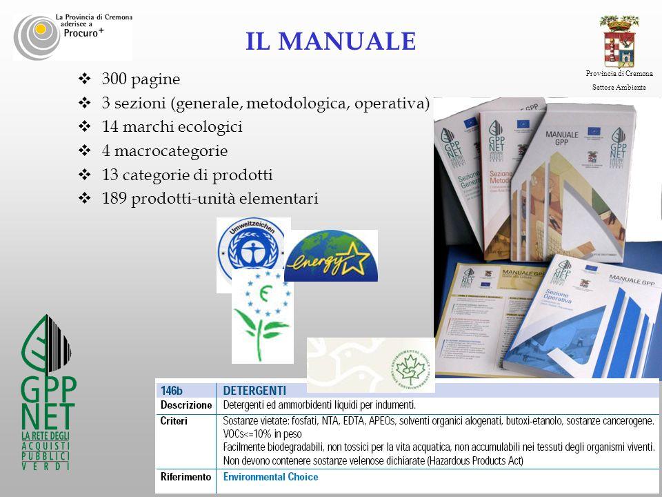 IL MANUALE 300 pagine 3 sezioni (generale, metodologica, operativa)