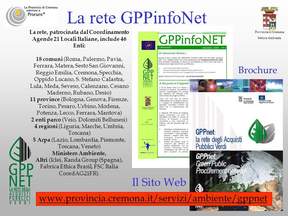 La rete GPPinfoNet Il Sito Web Brochure