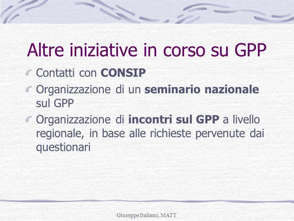 Altre iniziative in corso su GPP