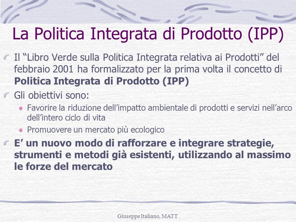 La Politica Integrata di Prodotto (IPP)
