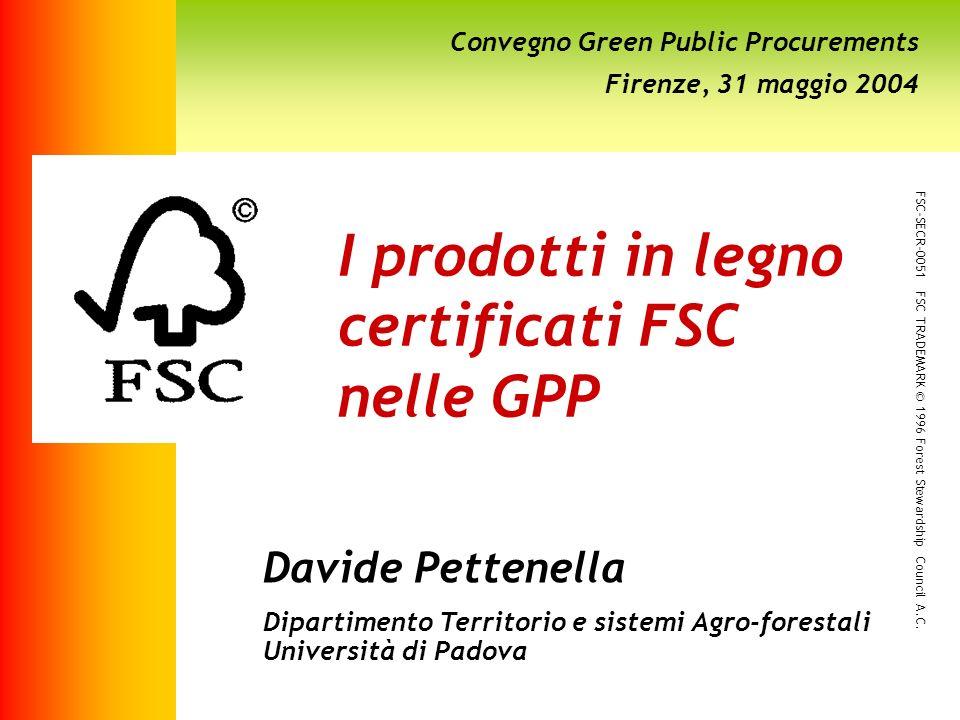 I prodotti in legno certificati FSC nelle GPP