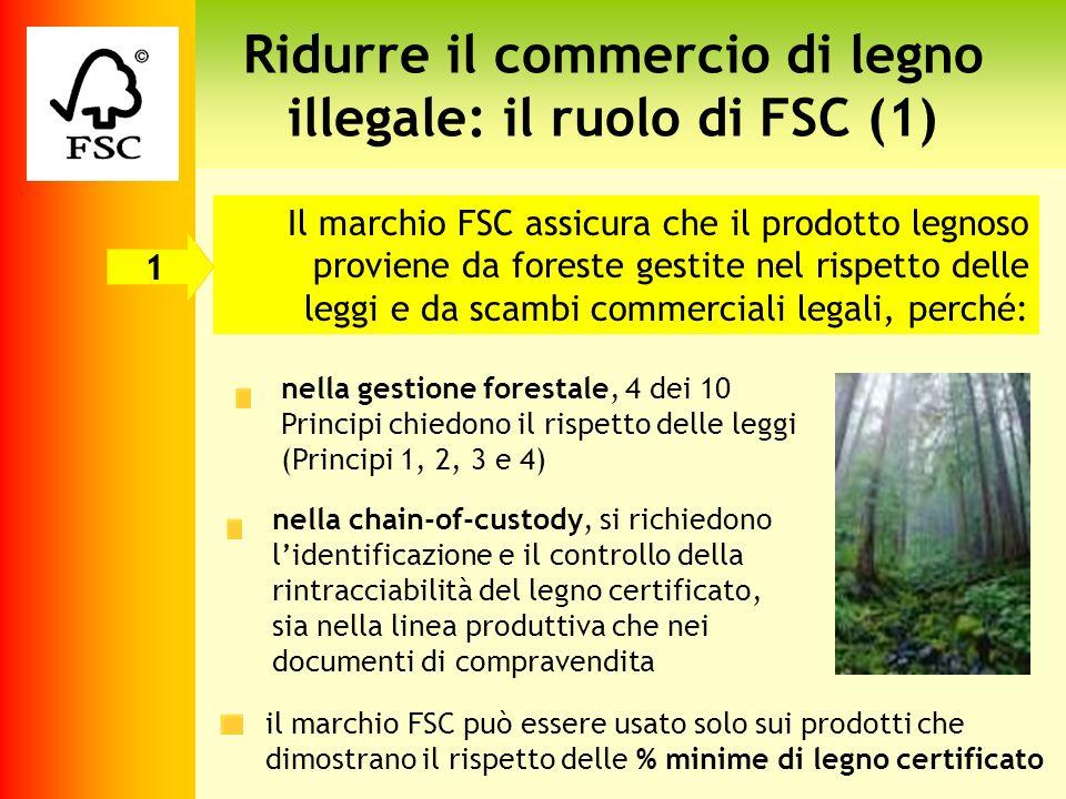 Ridurre il commercio di legno illegale: il ruolo di FSC (1)