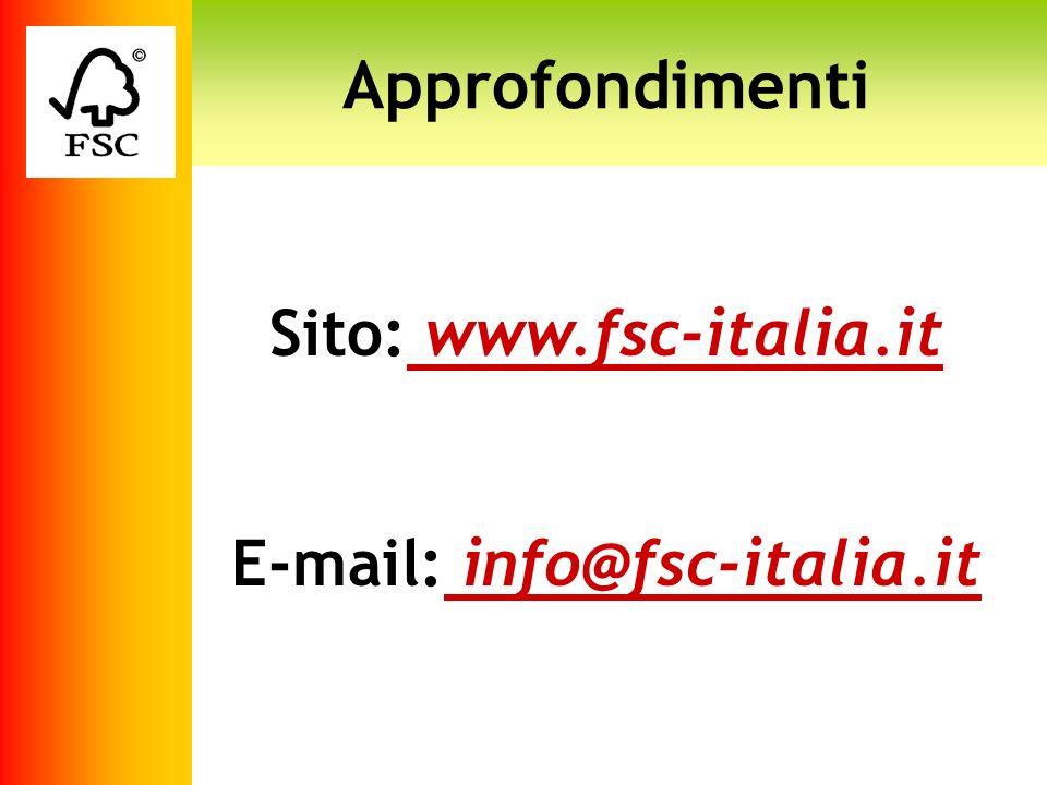 Sito: www.fsc-italia.it E-mail: info@fsc-italia.it