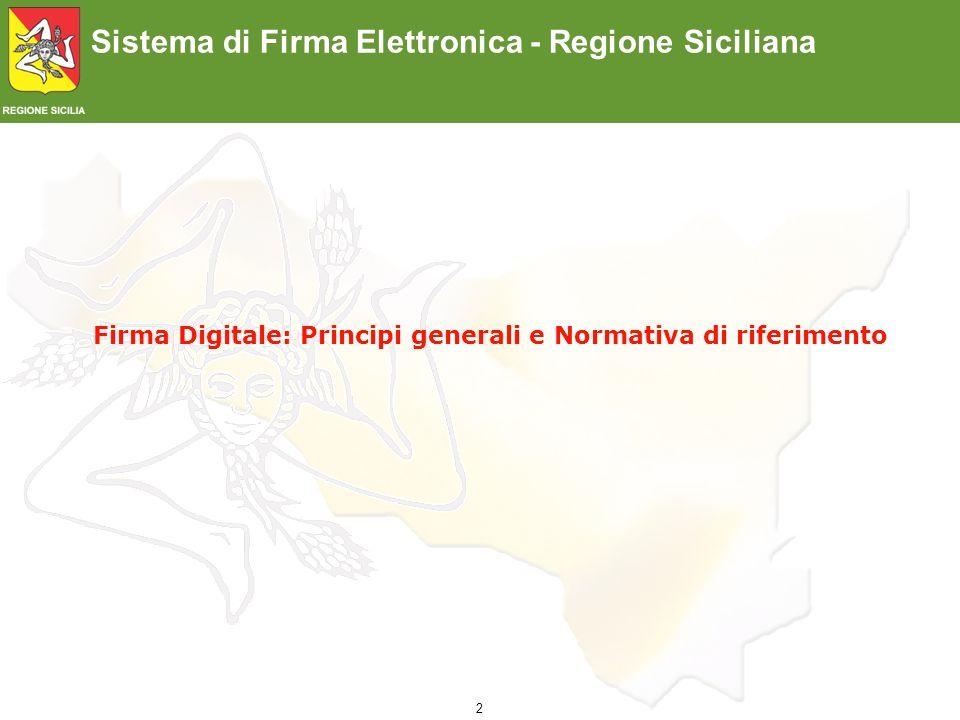 Firma Digitale: Principi generali e Normativa di riferimento
