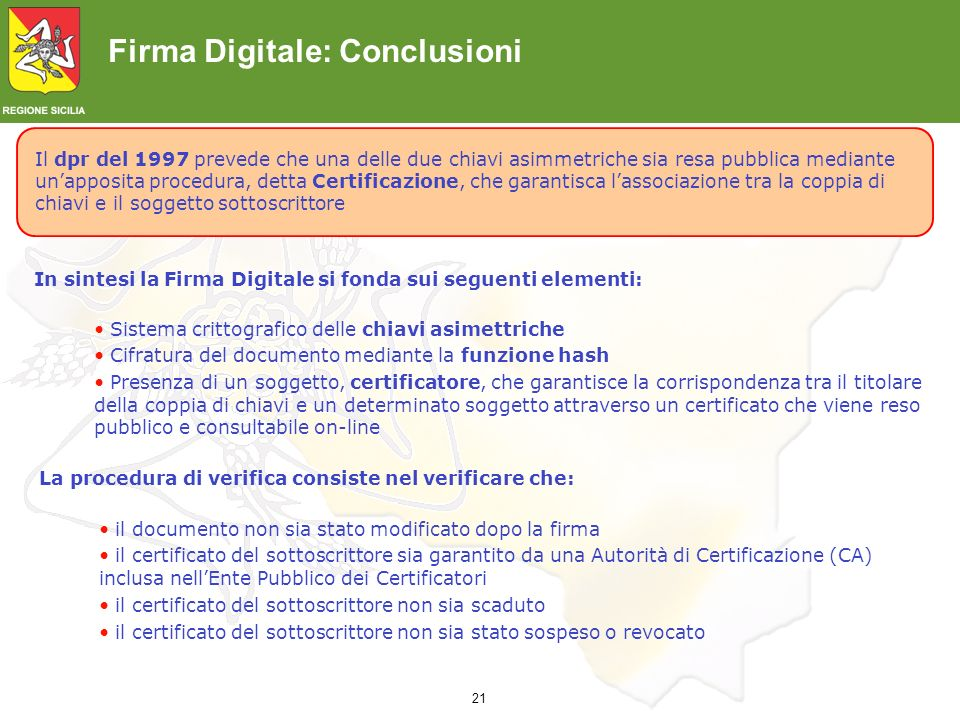Firma Digitale: Conclusioni