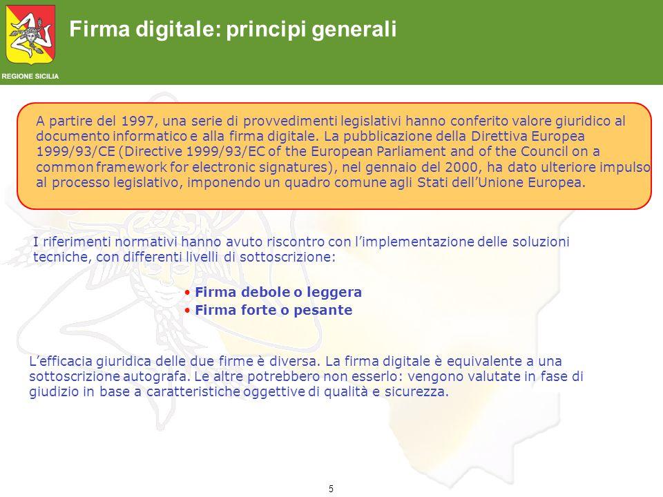 Firma digitale: principi generali